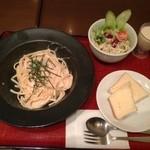 豆花 - パスタランチ(明太子の豆乳クリームパスタ)