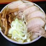 16776795 - 手打ちゃーしゅー麺大盛り:870円+120円
