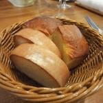 チポリーナ - 自家製のパン。 焼きたてで、美味しい。