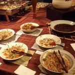 1678965 - 夕食:まごわやさしいコーナー、花豆、しいたけが美味しかった