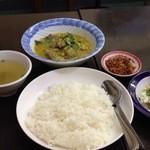 ノング インレイ - 3回目2013年1月12日 ひよこ豆とマトンの混ぜご飯1000円