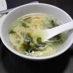 天金 - 炒飯に付いてきたスープ