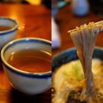 高橋家 - そば茶はおかわり自由で香ばしい香りに癒されちゃう。