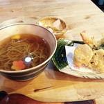 石臼挽き手打蕎麦 むら木 - 天ぷらそば【1300円】