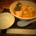 どさん粉 麺や 凡 - 正油ラーメンセット 700円のラーメンと小ライス 【 2013年1月 】