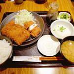 とんかつ和幸 - おろしひれかつ御飯(¥1365)に、梅しそチキンカツ(¥378)を追加