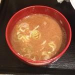ラーメン ますみ屋 - スープ割り