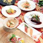 旬彩寮庭 宮のもり - 料理写真:お祝いや記念日、顔合わせなど多様な目的で人気のコースです