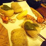 はん亭 - 牛肉&牛蒡、生麩、沢蟹