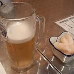 浦和 豊丸 - ビールと突き出し