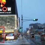 松屋 - 201301 松屋 ここだよー(゜o゜)! 雪跳ねを受けながら決死の撮影(笑)