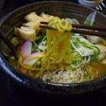 がんばり屋 - 料理写真:炙りきざみあげカレーうどん!