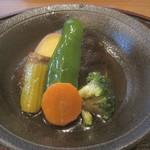 16819969 - 野菜の揚げびたし@'12.11.下旬
