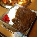 御徳家 - スジ肉煮込みカレー大盛600円