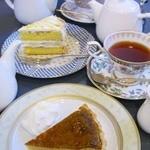 カフェポンテ - アップルタルトとオレンジケーキ