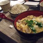 16832770 - 河内鴨の親子丼とおそばセット