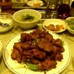 上海台所 - 鶏肉と唐揚げ油淋ソースかけ