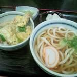 ひふみ - ミニ天とじ丼と温うどんの定食
