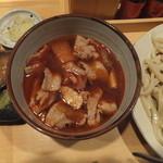 いろは  - 辛赤山椒肉汁うどん中盛780円