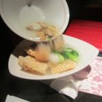 Nanshoumantouten - 南翔特製海鮮スープをおこげにin