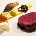 レストラン・モリエール - 十勝彩美牛のグリエ 赤ワインソース 山わさび添え