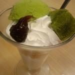 スシロー - 抹茶わらび餅パフェ