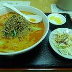 境耘閣 - ランチの坦々麺+半チャーハン