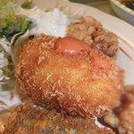 糸島食堂 バイキング&カフェ ほもり - 揚げたての手作りコロッケ♪冷めてても美味しいんだろうなと思う味です