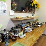 糸島食堂 バイキング&カフェ ほもり - 10種類以上ある惣菜は全て手作り!