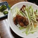 味平2号店 - 塩だれ唐揚げ丼(ミニ)