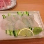 扇寿司 - ヒラメお造り