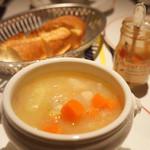ローブリュー - 生ハムと野菜のスープ(1050円)