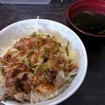 油助 - ミニネギチャーシュー丼