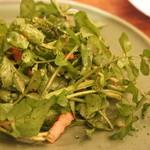 モルソー - 有機クレソンとパンチェッタのサラダ(1000円)