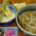 16866737 - ランチ海老天丼セット(大盛)
