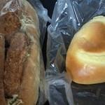 16867295 - 牛コロコッペ&クリームパン
