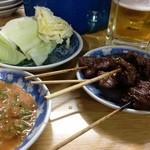 松よし - 串焼き&キャベツ&自家製のつけダレ
