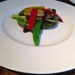 巴馬ロハスカフェ - 野菜のバジル炒め