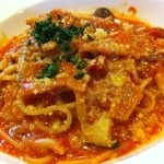 M's Cafe Dining Bar - 料理写真:当店二番人気パスタ ベーコンと野菜のトマトソースパスタ