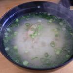 豊漁丸 - ホタテのみそ汁