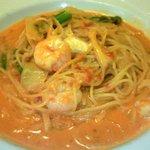 1688883 - 海老とアスパラのトマトクリームソースのスパゲティ(ハーフ)