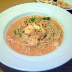 1688891 - 海老とアスパラのトマトクリームソースのスパゲティ(ハーフ)