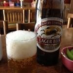 16885708 - 瓶ビール650円枝豆付き