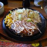 1689701 - 「焼きたてハンバーグトマトソース」(ライス、スープ、ミニサラダ、ドリンク)クーポン利用で599円