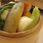 レストラン AQUA - せいろ蒸し 野菜の温サラダ(600円)