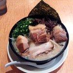 柳屋 - 角煮ラーメン(白)にもやしトッピング