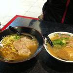 拉麺帝国 - 豚骨ラーメンより一回り大きい鉢で来ました。