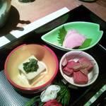 16892194 - ウニ豆腐、近江蒟蒻、鴨ロース