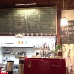 古民家カフェ&バル saburo36 - 黒板にはずらりとメニューが載ってます