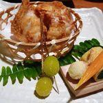 キヨノ - ふぐの「から揚げ」、ほうれん草の卵巻き、揚げ銀杏・・・全てが美味しい。